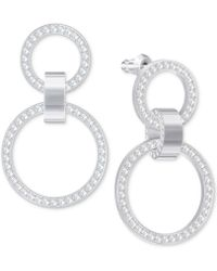 Swarovski - Pavé Double-hoop Chandelier Earrings - Lyst