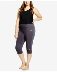Soffe | Plus Size Cropped Leggings | Lyst