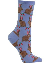Hot Sox - Bunnie Crew Socks - Lyst