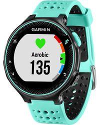 Garmin - Unisex Forerunner® 235 Blue Silicone Strap Gps Running Smart Watch 31mm 010-03717-48 - Lyst