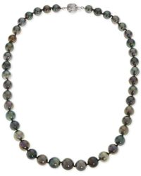 Macy's - Cultured Black Tahitian Pearl (8-10mm) Statement Necklace In 14k White Gold - Lyst