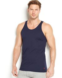 54bc56d4acc977 Lyst - Polo Ralph Lauren Men s 3-pk. Classic Fit Tank Tops in Red ...