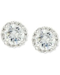 Giani Bernini - Sterling Silver Earrings, Pave Cubic Zirconia Stud Earrings (1-3/4 Ct. T.w.) - Lyst