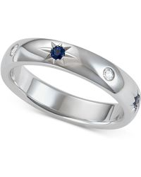 Marchesa - Sapphire (1/5 Ct. T.w.) & Diamond (1/10 Ct. T.w.) Band In 18k White Gold - Lyst