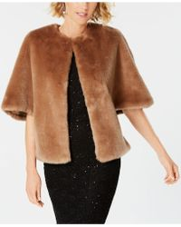 Adrianna Papell - Faux-fur Wrap - Lyst