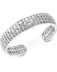 Effy Collection - Diamond Woven Bangle Bracelet (1/3 Ct. T.w.) In Sterling Silver - Lyst