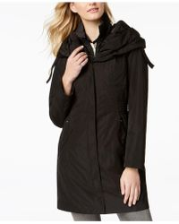 Laundry by Shelli Segal - Pillow-collar Ruched-waist Raincoat - Lyst