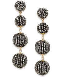INC International Concepts - Gold-tone Beaded Pom Pom Drop Earrings - Lyst