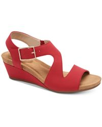 Giani Bernini - Belinaa Memory Foam Wedge Sandals, Created For Macy's - Lyst