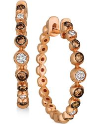 Le Vian - Strawberry & Nudetm Diamond Bezel-set Hoop Earrings (3/8 Ct. T.w.) In 14k Rose Gold - Lyst