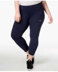 30aa9efdabb94 Nike - Plus Size Epic Lux Cropped Compression Running Leggings - Lyst
