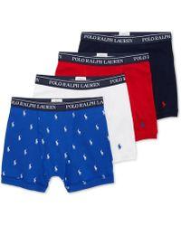 Polo Ralph Lauren - 3+1 Bonus Pack Boxer Briefs - Lyst