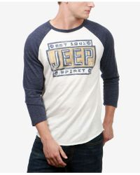 Lucky Brand - Men's Three-quarter Raglan Sleeve T-shirt - Lyst
