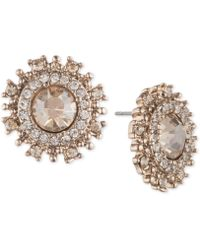 Marchesa - Gold-tone Crystal Halo Stud Earrings - Lyst