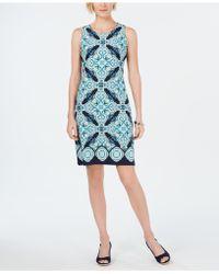 76a9f30c9f6 Charter Club - Print Shift Dress, Created For Macy's - Lyst