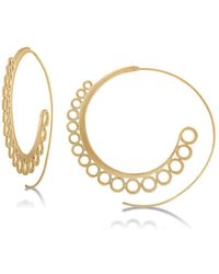 "RACHEL Rachel Roy - Gold-tone 2-1/4"" Spiral Hoop Earrings - Lyst"