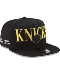 7f21e7ae0a5 Lyst - KTZ New York Knicks Faux-leather Rip 9fifty Snapback Cap in ...