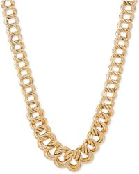 Macy's - Double Ring Graduated Link Statement Necklace In 14k Gold - Lyst