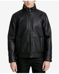 CALVIN KLEIN 205W39NYC - Men's Pebble Faux-leather Bomber Jacket - Lyst