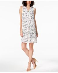 Vince Camuto - Printed Shift Dress, A Macy's Exclusive Style - Lyst