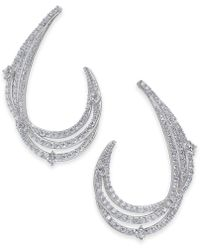 Danori - Crystal & Pavé Swirl Drop Earrings, Created For Macy's - Lyst