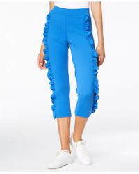 Hue - ® Ruffled Crepe Loafer Skimmer Leggings - Lyst
