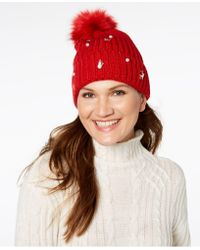 Charter Club - Embellished Charm Beanie, Created For Macy's - Lyst