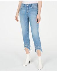 bc33f52f3e1 INC International Concepts - I.n.c. Imitation-pearl Hem Curvy Ankle Jeans