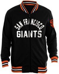 the best attitude dedbf 66095 Majestic Men's San Francisco Giants Training Jacket in Black ...
