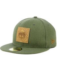separation shoes 1a77a 169a0 KTZ - Oakland Athletics Leather Patch 59fifty-fitted Cap - Lyst