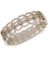 Ivanka Trump - Gold-tone 3-pc. Set Crystal & Link Bangle Bracelets - Lyst