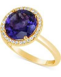 Macy's - Amethyst (3 Ct. T.w.) And Diamond (1/6 Ct. T.w.) Ring In 14k Gold - Lyst