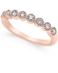 Macy's | Diamond Band (1/4 Ct. T.w.) In 14k White Gold | Lyst