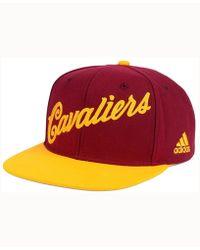 adidas - Cleveland Cavaliers Seasons Greeting Snapback Cap - Lyst