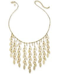 """INC International Concepts - I.n.c. Gold-tone Shaky Leaf Statement Necklace, 19"""" + 3"""" Extender, Created For Macy's - Lyst"""