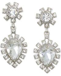 Badgley Mischka - Silver-tone Crystal Drop Earrings - Lyst
