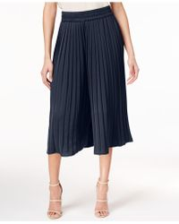 Olivia & Grace - Pleated Culotte Pants - Lyst