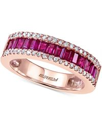 Effy Collection | Ruby (1 Ct. T.w.) And Diamond (1/5 Ct. T.w.) Ring In 14k Rose Gold | Lyst