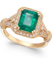 Effy Collection - Emerald (2-1/5 Ct. T.w.) And Diamond (1/3 Ct. T.w.) Ring In 14k Gold - Lyst