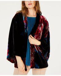 Trina Turk - Velour Printed Poncho Jacket - Lyst