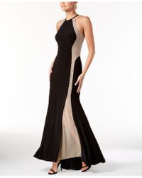 Xscape - Caviar-beaded Illusion Gown - Lyst