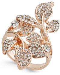 INC International Concepts - Rose Gold-tone Pavé Multi-leaf Ring - Lyst