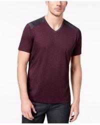 Alfani - Men's Pieced V-neck Performance T-shirt - Lyst