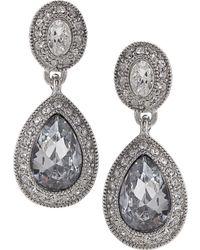 Carolee - Earrings, Crystal Drop - Lyst
