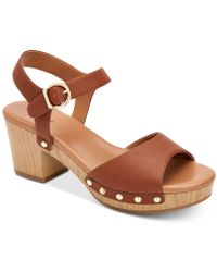Style & Co. - Anddreas Platform Block-heel Sandals, Created For Macy's - Lyst