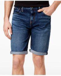 3a4708ed Lyst - Levi's 502 Regular Tapered Denim Shorts Black in Black for Men