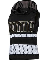 PUMA - Varsity Drycell Sheer Sleeveless Hoodie - Lyst