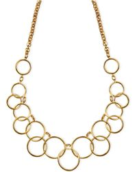 Nine West - 1necklace, Gold-tone Circle Frontal Necklace - Lyst