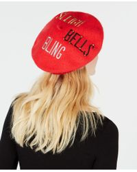 Charter Club - Sleigh Bells Bling Wool Beret, Created For Macy's - Lyst