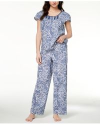 Charter Club - Woven Fringe-trim Pajama Set, Created For Macy's - Lyst